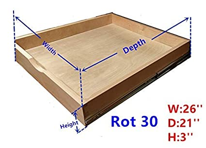 Cabinet Roll Out Trays Wood Pull Out Tray Drawer Boxes Kitchen Cabinet  Organizers, Cabinet Slide Out Shelves, Pull-Out Shelf, Include 2 Pack Full  ...