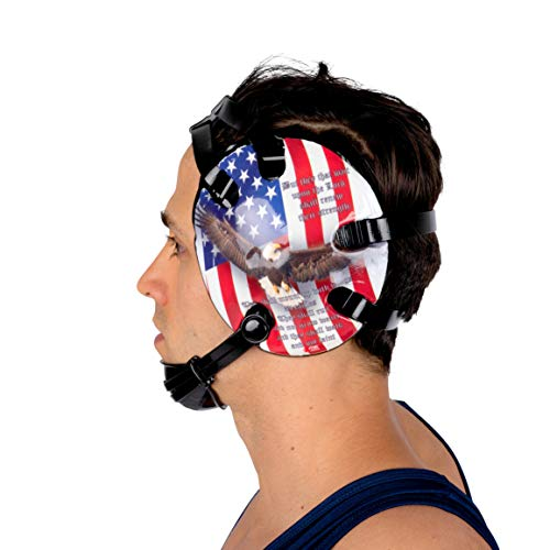 4-Time All American Wrestling Headgear for Men, Women, and Youth, MMA, Sparring, Boxing, and Wrestling Mat Ear Wrap Gear/Supplies, Exercise Equipment (Isaiah 40) -