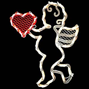 Valentine's Day Cupid Heart LIGHT Window Decor
