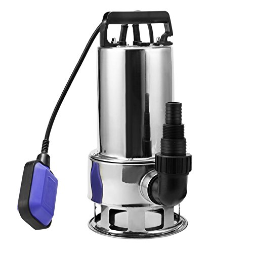 1.5HP Stainless Steel Submersible Pump Homself Sump Pump Clean/Dirty Water Pump (1.5HP Stainless) (Sump Pump Steel Stainless)