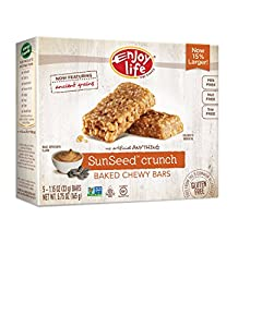 Enjoy Life Baked Chewy Bars, Gluten-Free, Non-GMO, Dairy-Free, Nut-Free + Soy-Free, Sunseed Crunch, 1 Ounce , 5 Count (Pack of 6)