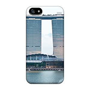 Pure For Ipod Touch 5 Phone Case Cover Hybrid PC Silicon Bumper Singapore Modern Marina Bay Sands