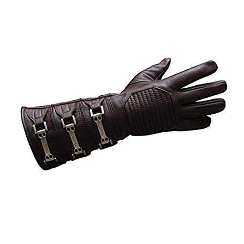 Anakin Skywalker Gauntlet Costume Real Leather Brown Right Glove (XS)
