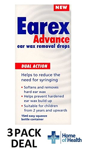Earex Advance Ear Wax Removal Drops- Dual Action 15ml **3 PACK DEAL**
