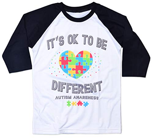 AllBirthDayGift Kids Autism Shirt Autism Awareness Shirts for Boys Girls its ok to be Different Youth T Shirt Gifts