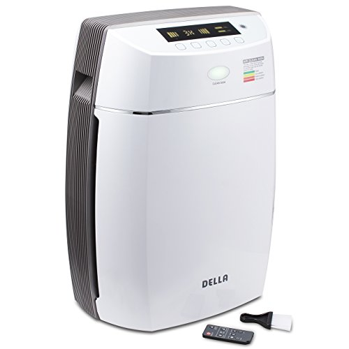 DELLA True HEPA Filter Air Purifier Ionic UV Cleaning System Allergen, Odor Reduction Plasma Technology For Sale