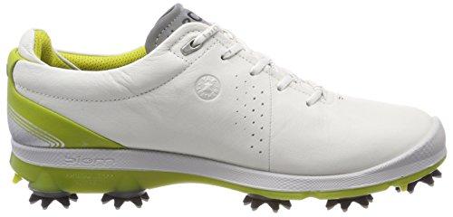 ECCO Mens Biom G2 Free Gore-TEX Golf Shoe White/Kiwi 700iOQ