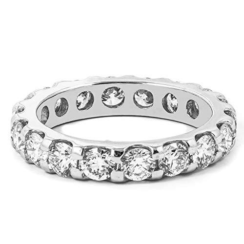 14kt White Gold 2.00 CTW Round Cut Diamond Eternity Wedding Band