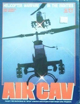 AIR CAV Helicopter Warfare in the Eighties Bookshelf Type Boardgame - #10020 West End Games