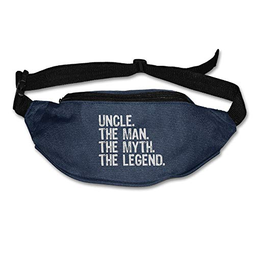 Ada Kitto Uncle The Man The Myth The Legend Mens&Womens Lightweight Waist Pack For Running And Cycling Navy One Size by Ada Kitto