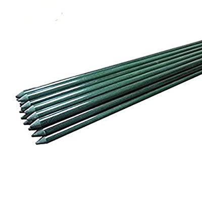 Ecostake Garden Stakes 5-Ft for Climbing Plants Supports Pole 20 Pack Rust-free Plant Sticks Fence Post