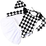 Jasooo Baby Girls Swimsuit,Girls' Long-Sleeved UV Protection Swimwear with Hat S/M/L/XL