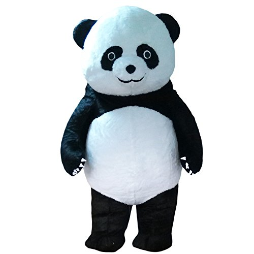 Inflatable Panda Bear Mascot Costume Soft Plush Costume for Adult Men & Women -
