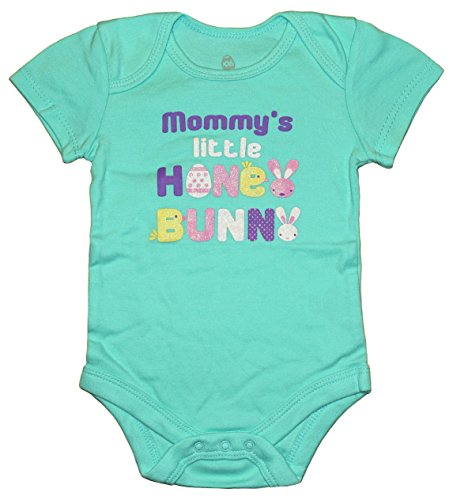 Price comparison product image Assorted Bunny,  Egg,  Chick Boys' & Girls' Easter Bodysuit Dress Up Outfit (6-9 Months,  Mommy's Little Honey Bunny)