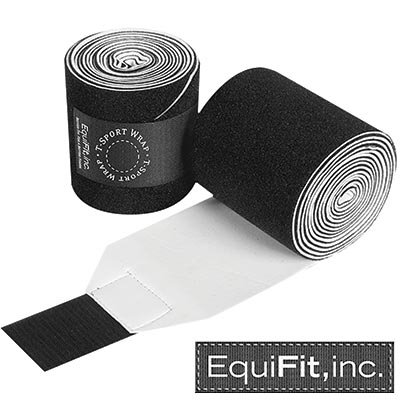 EquiFit T-Sport Non-Slip Polo Wraps Pony, Black by EquiFit