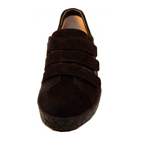Prachtige Miki Suède Velcro Slip-on Zwart Suède