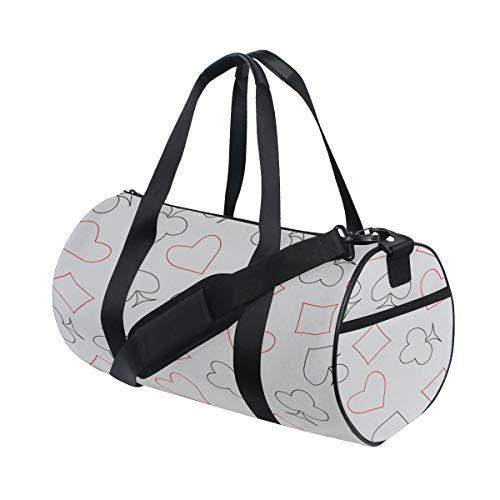 - Duffel Bags Durable Poker Paper Number Games Day Duffel Functional Handbag Organizer For Girl Lady Crossbody Bags Yoga Work College Rucksack