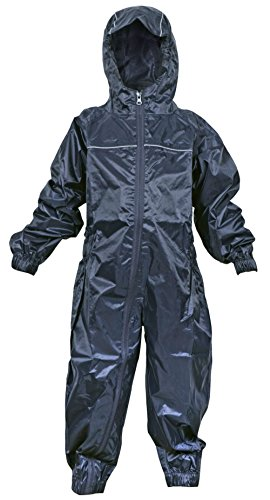 DRY KIDS - Waterproof Rainsuit 7-8 Yrs Navy Blue