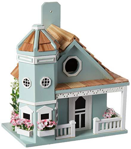 Home Bazaar Flower Pot Cottage Birdhouse, - Birdhouse Cottage