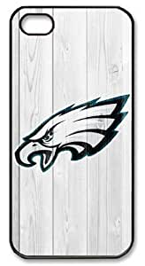 LZHCASE Personalized Protective Case for iPhone 5 - NFL Philadelphia Eagles in Wood Background