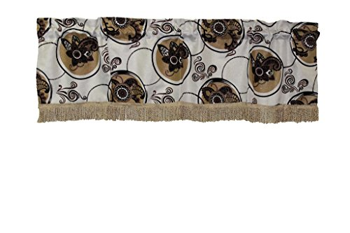 HomeCrate Luxurious Tivoli Flock Vintage Collection Window Valance, in (Luxurious Eyelet Trim Top)