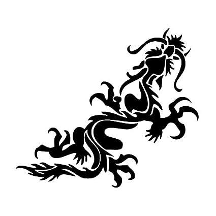 172c21f9a Amazon.com: leononlinebox Dragon Fly - Tribal Decal [12cm Black] Vinyl  Sticker for Car, Bike, iPad, Laptop, MacBook, Helmet: Automotive