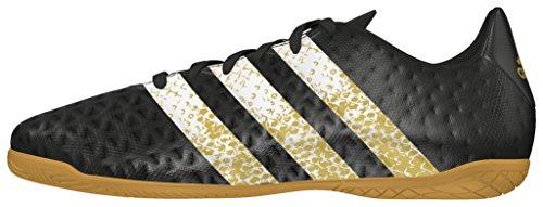 adidas Ace 16.4 In J, Botas de Fútbol Para Niños Negro (Negbas / Ftwbla / Dormet)