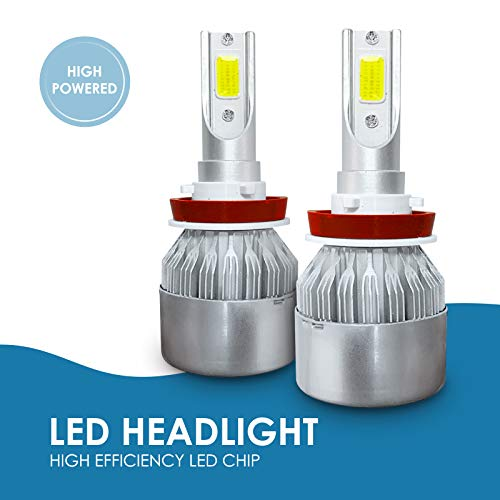 AccCITY LED Headlight Bulbs All-in-One Conversion Kit - H11 (H8, H9) -7,000Lm 6000K Cool White CREE