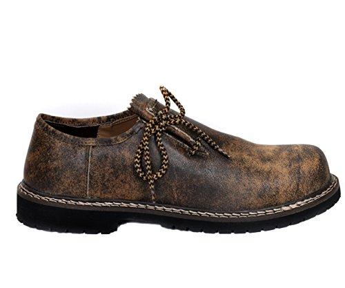 %Saisonstart-Angebot % Wertige Rahmengenähte Herren Ttrachtenschuhe aus echtem RindsLeder,in attraktivem AntikBraun/ kein billiges Spaltlederprodukt: Der Schuh sieht nach was aus und hält auch was aus Antik Braun