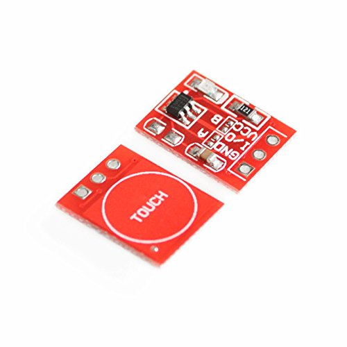 LIGHTHINKING 100PCS New TTP223 Touch Button Module Capacitor Type Single Channel Self Locking Touch Switch Sensor