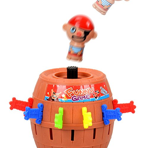Dog Pirate Treasure Chest Costume (Angelwing Tricky Pirate Novelty Kids Children Funny Lucky Games Barrel Game Toys for Baby)