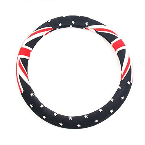 (Suede Union Jack Steering Wheel Grip Cover For Mini Cooper R50 R53 R56 R56N F55 F56 R55 R52 R57 R58 R59 R60 R61)