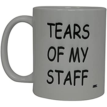 Best Funny Coffee Mug Tears Of My Staff Novelty Cup Joke Great Gag Gift  Idea For