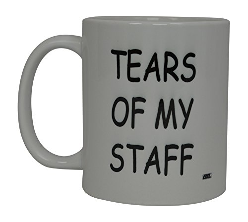 Christmas Gift Ideas For The Office Staff - Best Funny Coffee Mug Tears Of My Staff Novelty Cup Joke Great Gag Gift Idea For Men Women Office Work Adult Humor Employee Boss Coworkers (Tears of My Staff)