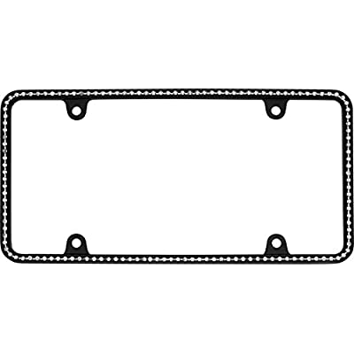 Cruiser Accessories 18150 Matte Black/Clear Diamondesque Frame: Automotive