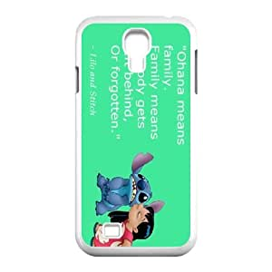 DIY Lilo and Stitch Ohana means family Hard Plastic phone Case Cove For SamSung Galaxy S4 Case JWH9154452