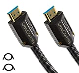 OneConvey 4K HDMI Cable 3 Feet 2 Pack -Ultra High Speed 18Gbps Support Ethernet/ARC 28AWG OD8.6mm Video 4K UHD 2160 HD 1080P 3D Xbox PS PS3 PS4 4K TV