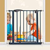 Baby Gate Safety Gate Durable Dog Gate with Door Child Fence Isolation Door Safety Pet Gate for The House Stair Gate Doorways   Hallways Size  Width 195-204cm