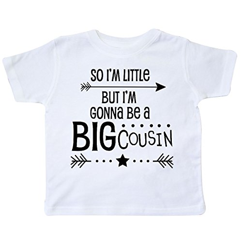 inktastic So I'm Little, But I'm Gonna Be a Big Cousin Toddler T-Shirt 5/6 White (Big Cousin And Little Cousin T Shirts)