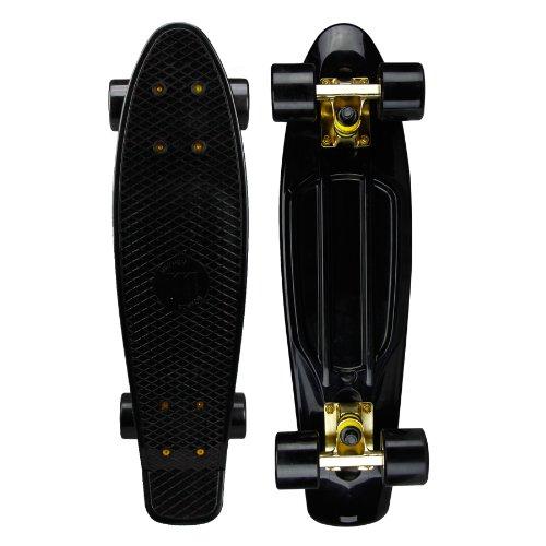 Mayhem Cycle Fix Penny Style Skateboard, Black/Gold