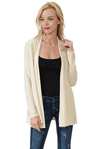 Pastel by Vivienne Women's Long Sleeve Jersey Cardigan Large Cream