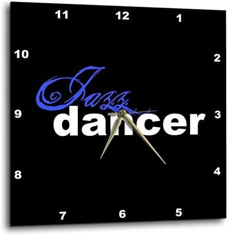 3dRose DPP_16966_1 Jazz Dancer Wall Clock, 10 by 10-Inch