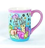 CRAZY Cat LADY COFFEE tea MUG OFFICE gift DESK gag NEW