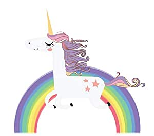 Rainbow Unicorn Wall Sticker for Girls Bedroom Wall Decal Art Nursery Home Decor