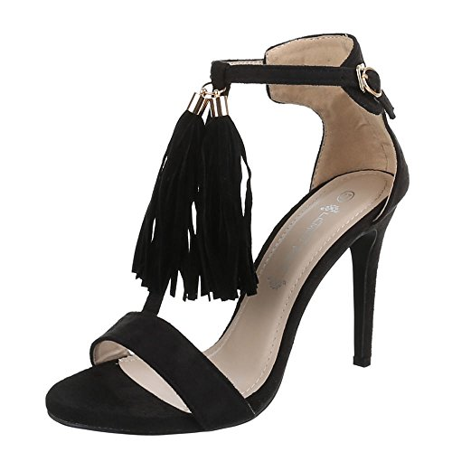 Ital-Design - sandalias mujer Negro - negro