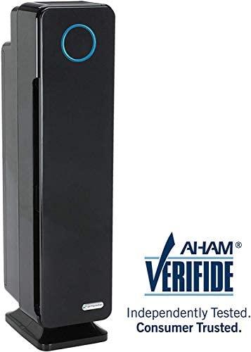 Germ Guardian Air Purifier for Large Rooms, True HEPA Filter for Allergies, Pollen, Smoke, Dust, Pet Dander, UVC Sanitizer Eliminates Germs, Mold, Odors, Quiet for Home, Bedrooms, 28 4-in-1 AC5350B
