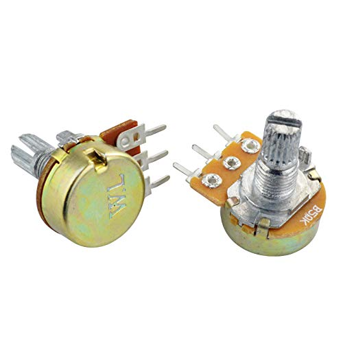 Yolyoo Potentiometer Assortment Kit, A Set of 1Kohm -100Kohm Multiturn Trimmer,1Kohm - 100Kohm Single Linear-High Precision Variable Resistor with Knobs and Mini Screwdriver