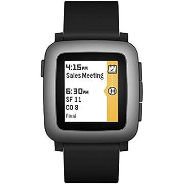 reliable Pebble Time Smartwatch - Black