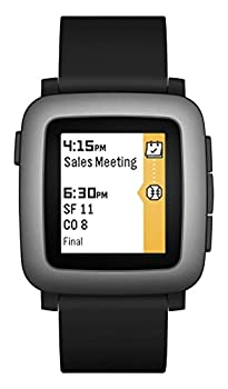 Pebble Time Smartwatch - Black 0
