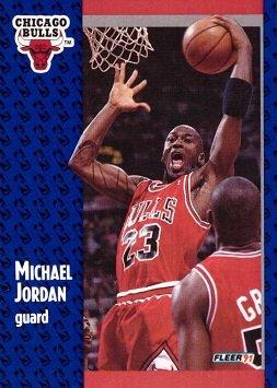 592be032ae90a 1991-92 Fleer #29 Michael Jordan Basketball Card